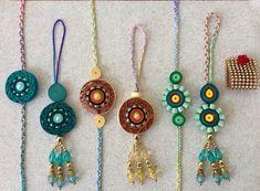 DIY Paper Quilling Rakhi for Raksha Bandhan Quilling Dolls, Paper Quilling Earrings, Paper Quilling Designs, Quilling Craft, Quilling Patterns, Quilling Rakhi, Quiling Paper Art, Rakhi Bracelet, Handmade Rakhi Designs