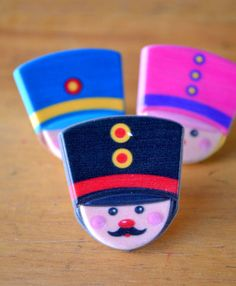 Toy Soldier Cupcake Topper  12 Nutcracker Cupcake by MyLittleOtter, $3.85 - Vintage Disneyland or Small World Birthday Party