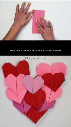 Make this simple to fold easy origami heart. Withone square paper you can fold 2 hearts with the video tutorial and instructions. This is a simple activity for even a young kid. # origami easy step by step Easy Origami Heart Instruções Origami, Origami Butterfly, Paper Crafts Origami, Paper Crafting, Origami Balloon, Origami Videos, Diy Paper, Origami Tattoo, Origami Paper Folding