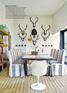 replace those antlers with a gorgeous mirror and we've got a deal. #diningroom