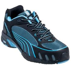 Women's Puma Safety Fuse Motion SD Low Steel Toe Shoes *** Check out the image by visiting the link. (This is an affiliate link) Steel Toe Tennis Shoes, Steel Toe Shoes, Safety Toe Shoes, Safety Work Boots, Safety Footwear, Pumas Shoes, Blue Shoes, Hot Shoes, Women's Shoes