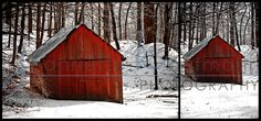 I love red barns in fresh white snow!