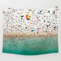 Bondi Beach, aerial, surfers, beach...