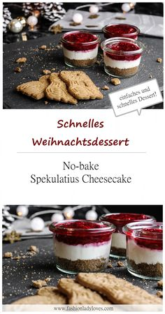 Fast Christmas dessert: No-bake Spekulatius Cheesecake Quick Christmas des . - Quick Christmas dessert: No-bake Spekulatius Cheesecake Quick Christmas dessert – no-bake cheesec - Cheesecake Speculoos, No Bake Cheesecake, Cheesecake Desserts, Quick Dessert Recipes, Snack Recipes, Snacks, Fall Desserts, Christmas Desserts, Baking Desserts