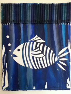 Melted Crayon Art  Fish by MeltGallery on Etsy
