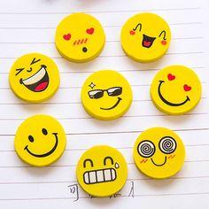 20 pcs/lot Mini Cute Cartoon Kawaii Rubber Smile Face Eraser for Kids Gift School Supplies Korean Papelaria Free shipping 857