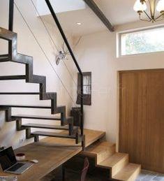 Modern Stair Railing, Metal Stairs, Loft Stairs, Staircase Railings, Modern Stairs, House Stairs, Staircase Design, Home Room Design, Dream Home Design