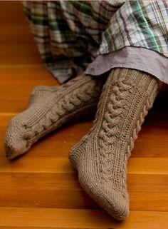 Plaited Cable Socks Pattern..worsted yarn Knitting Patterns, Crochet Patterns, Bed Socks, Thick Socks, Knit Picks, Slipper Socks, Plaits, Leg Warmers, Holiday Fun