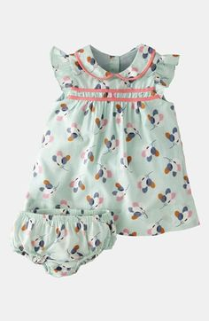 Mint sorbet with a twist. Mini Boden 'Pretty Tea' Dress & Bloomers (Infant) available at #Nordstrom