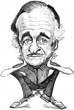 David Niven, a distinguished dapper dude with a wicked wit and a twinkle in his eye. - Gene Haas caricature