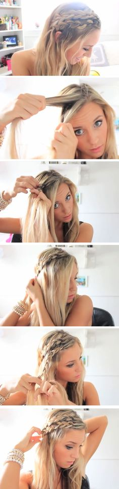 Easy DIY Hairstyles for The Beach | Double Braids