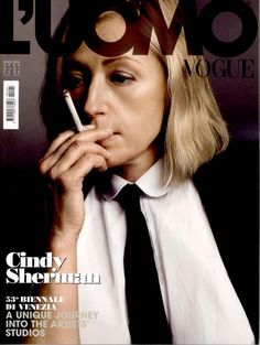 While Sherman has never been on the cover of a women's Vogue in real life, she did make the front of Italy's L'Uomo Vogue in July 2009.