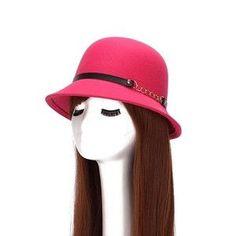 Vogue Vintage Wool Felt Bowler Derby Fedora Trilby Bowknot Hat 6 Colors