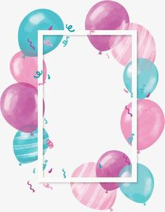 Cute color balloon borders PNG and Vector Birthday Clipart, Birthday Template, Birthday Cards, Happy Birthday Images, Happy Birthday Wishes, Birthday Greetings, Flower Backgrounds, Wallpaper Backgrounds, Birthday Wallpaper