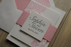 Floral Letterpress Wedding Invitations by TEN:THIRTEEN design available at Jupiter and Juno
