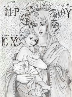 Virgin Mary with jesus Blessed Mother Mary, Blessed Virgin Mary, Catholic Art, Catholic Saints, Religious Icons, Religious Art, Queen Of Heaven, Mama Mary, Mary And Jesus