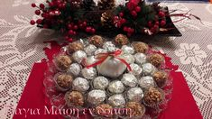 ferrero rose by Mairh Christmas Wreaths, Holiday Decor, Rose, Home Decor, Vases, Pink, Decoration Home, Room Decor, Roses