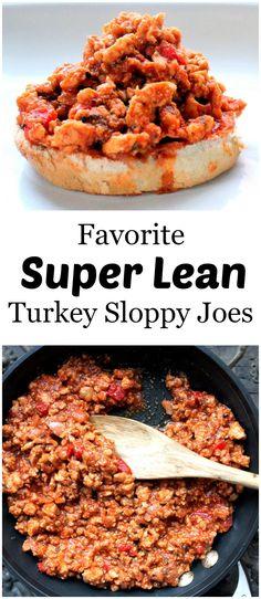 Favorite Super Lean Turkey Sloppy Joes--Skip the brown sugar & bun while on a challenge