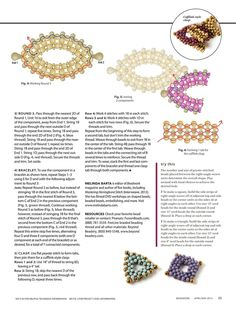 PEANUT Bead Jewelry Components by Melinda Barta - FREE Tutorial. Page 2 of 2