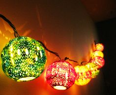 Also some string lights. | 34 Adorable Things To Do With Leftover Bits Of Yarn