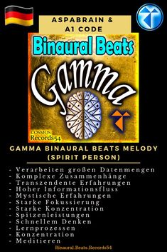 Artist 👉  Aspabrain & A1 Code Album 👉  Gamma Binaural Beats Melody (Spirit Person)   -   Verarbeiten großen Datenmengen  - Komplexe Zusammenhänge  - Transzendente Erfahrungen  - Hoher Informationsfluss  - Mystische Erfahrungen  - Starke Fokussierung  - Starke Konzentration  - Spitzenleistungen  - Schnellem Denken  - Lernprozessen  - Konzentration  - Meditieren   #binauralbeats #brainfoods  #binaural  #isotonictones #consciousness #oneness #awareness #knowthyself #awa