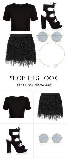 """Untitled #505"" by queenzella ❤ liked on Polyvore featuring Ted Baker, Mason by Michelle Mason, Le Specs and Fallon"