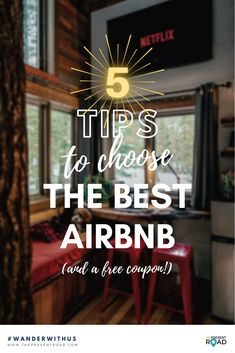 5 tips to book the best AirBnB for your next holiday. Whether you are traveling abroad or choosing a staycation, read this before you book your next AirBnB. Travel in style | AirBnB tips | How to book an AirBnB | Travel tips | Travel advice | booking tips