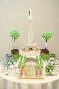 Paris Theme Sweet Table this is too cute