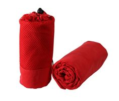 XL Red Quick Dry Microfiber Travel Towel with Mesh Bag - Lightweight, Compact and Super Absorbent - Perfect for Travel, Camping, Hiking, Backpacking, Gym, Beach, Swimming.. ** Check this awesome product by going to the link at the image.