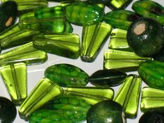 Green Bead Collection by UrbanStudioSupply on Etsy, $2.99