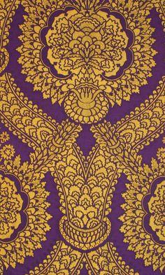 Memlinc Purple Brocade - Purple Fabrics - Textiles & Trimmings