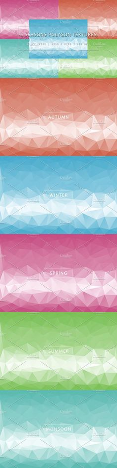 5 Seasons Polygon Textures. Textures