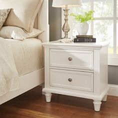 Darby Home Co Isabella 2 Drawer Nightstand Color: White Diy Bedroom Decor, Bedroom Furniture, Home Furniture, Home Decor, Bedroom Ideas, Bedroom Styles, Furniture Stores, Office Furniture, Furniture Ideas