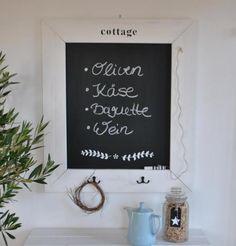 kitchen DIY chalkboard by cottage no8