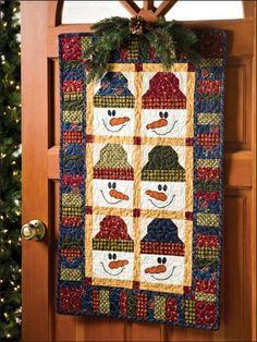 snowman wallhanging- use each snowman on a single mug rug?