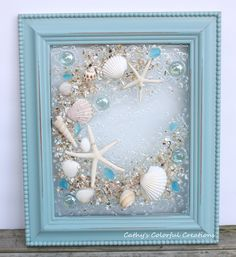 Excited to share this item from my shop: Beach Art, Beach Wall Art, Beach Window, Beach Window Art, Sea Shell Seashell Art, Seashell Crafts, Beach Crafts, Sea Glass Crafts, Sea Glass Art, Seashell Projects, Beach Wall Art, Sea Art, Coastal Art