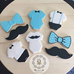 Mustache Baby Shower Cookies by Busybee0715 on Etsy
