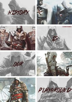 Assassins Creed history is the playground. Prettymuch