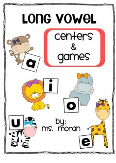 Long vowels activities, games, and centers! **If you like this packet - take a look at my {Word Work Games - Bundle}, it includes this packet and . Vowel Activities, Literacy Activities, Literacy Strategies, Student Teaching, Teaching Reading, Teaching Ideas, Teaching Resources, Reading Lessons, Word Work Games
