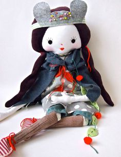 Cloth rag doll hand crafted heirloom quality Rosie doll. How fun is this?!!!