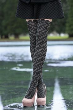 Black Fishnet Footless Ladies Tights 10-14 Generous size punk goth