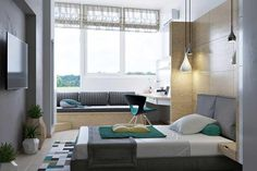 Image result for a variety of window heights in a room Sofa, Conference Room, Windows, Flooring, Bedroom, Table, Design, Living Rooms, Furniture