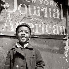 Harlem Newsboy [Gordon Parks] by Black History Album, via Flickr