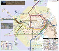 Australia Metro Map - http://holidaymapq.com/australia-metro-map-2.html