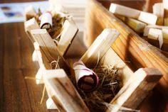 mini wooden mangers - Christmas woodwork