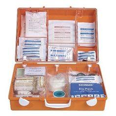 SÖHNGEN® Erste Hilfe Koffer MT-CD, 40 x 30 x 15 cm (B x H x T), orange, Füllung gem. DIN 13169