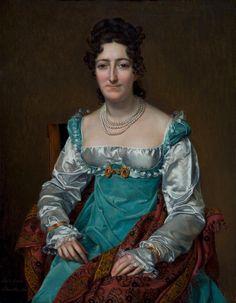 Sophie Rude - Portrait de femme enveloppée dans un châle des Indes, 1818