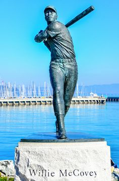 SF Giants Willie McCovey Statue at McCovey Cove, San Francisco, CA