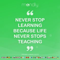 Learn languages online for free with Mondly, the language learning app loved by millions of people worldwide. Immersive, interactive, and fun. Learn Languages Online, Never Stop Learning, Learning Quotes, Monday Motivation, Quote Of The Day, Teaching, Free, Inspiration, Biblical Inspiration