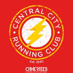 """Central City Running Club"" by alecxps T-shirts, Tank Tops, Sweatshirts and Hoodies on sale until 25th September at www.OtherTees.com Pin it for a chance at a FREE TEE! #flash"